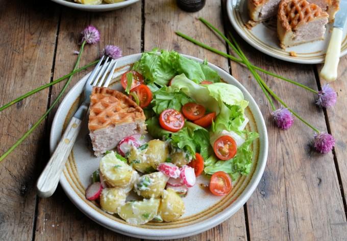 The Little Black Dress of Salads! New Potato & Radish Salad in a Creamy Truffle Oil Dressing