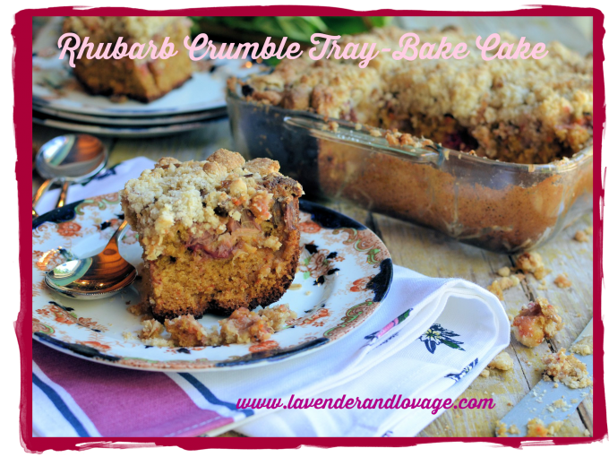Rhubarb Crumble Tray-Bake Cake
