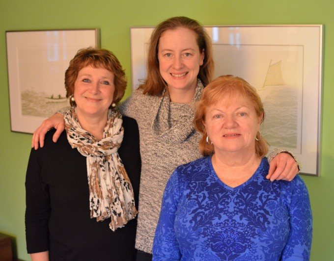 Karen Burns Booth (Lavender and Lovage), Lori Butler (The Island Chef) and Regina McCarthy her mother-in-law