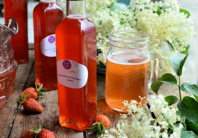 Elderflower & Strawberry Cordial/Syrup