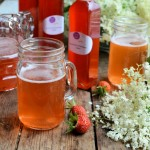 Making Elderflower and Strawberry Cordial
