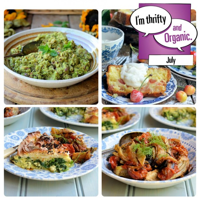 July Thrifty & Organic meal planner by Lavender and Lovage