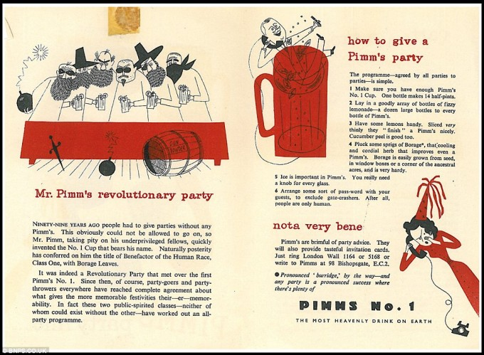 Vintage Pimm's Advertisement