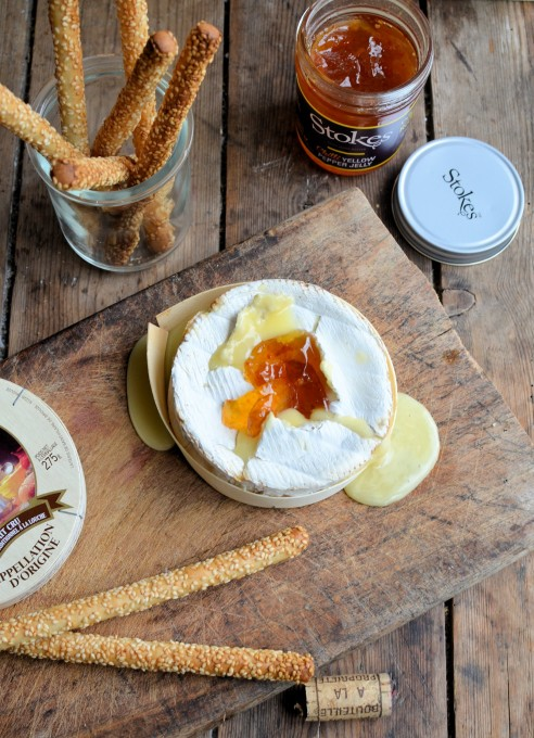 Baked Camembert Cheese in a Box