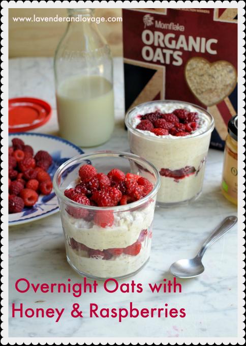 Recipe: Overnight Oats with Honey & Raspberries + Mornflake Hamper Giveaway