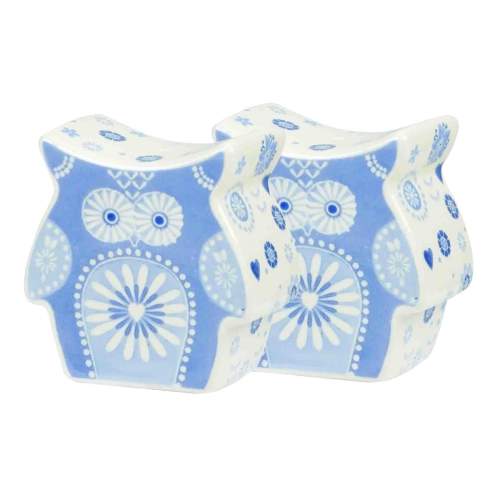 The Caravan Trail Penzance Owl Cruet Set