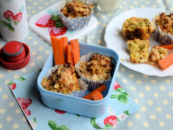 Carrot, Leek and Oat Cheese Muffins