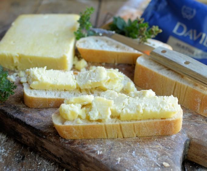 Ciabatta and cheese