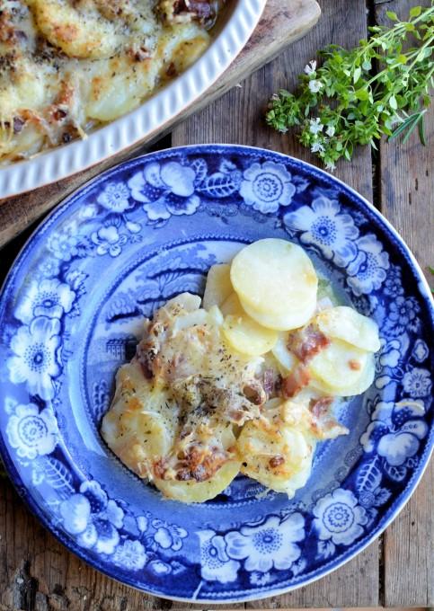 Potato and Bacon Gratin