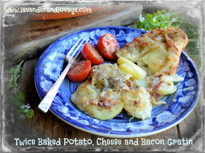Sel la Vie Tomatoes and Twice Baked Potato, Cheese and Bacon Gratin