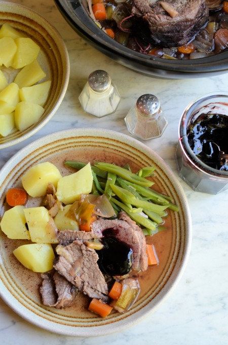 Beef, Brisket, Elderberries, Elderberry Jelly, Autumn, Preserves, Slow Cooker, Crock Pot, Karen Burns-Booth, Lavender and Lovage