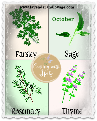 Cooking with Herbs for October: Scarborough Fair Herbs