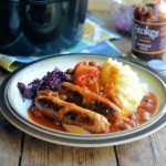 Bonfire Bangers and Barbecue Bean Casserole