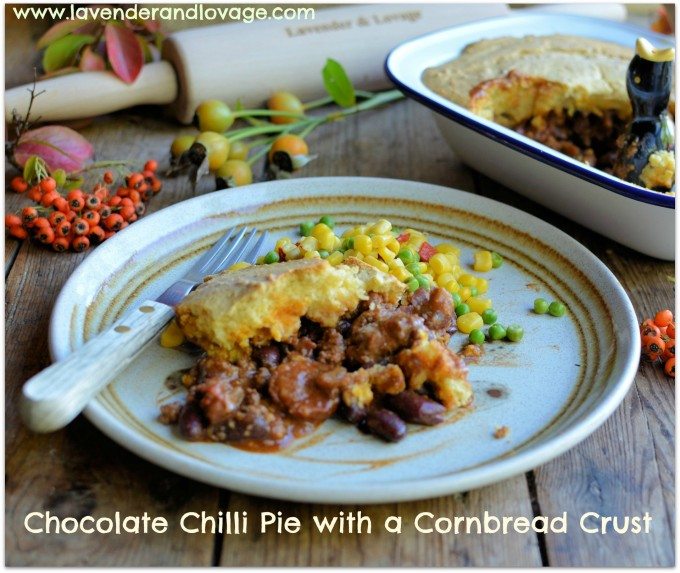 Pie, Pie, Pie........Chocolate Chilli Pie with a Cornbread Crust