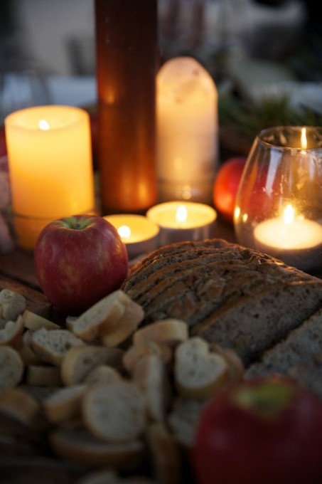 picnic by candlelight