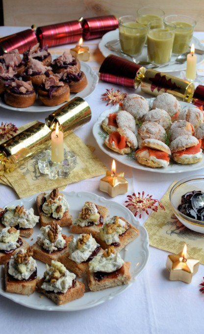 Thrifty organic december it 39 s party time a fabulous for Canape bases ideas