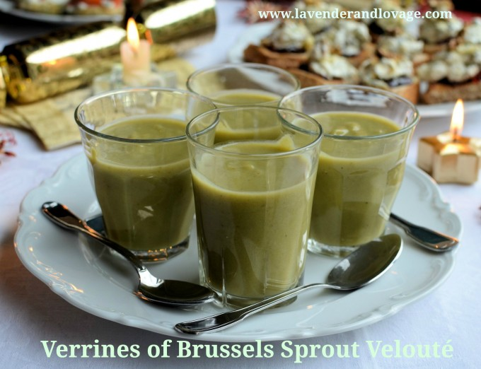 Verrines of Brussels Sprout Velouté (Creamy Brussels Sprouts Soup)