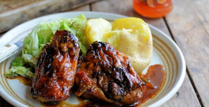 The Great Potato Debate and Sticky Christmas Marmalade Chicken Recipe
