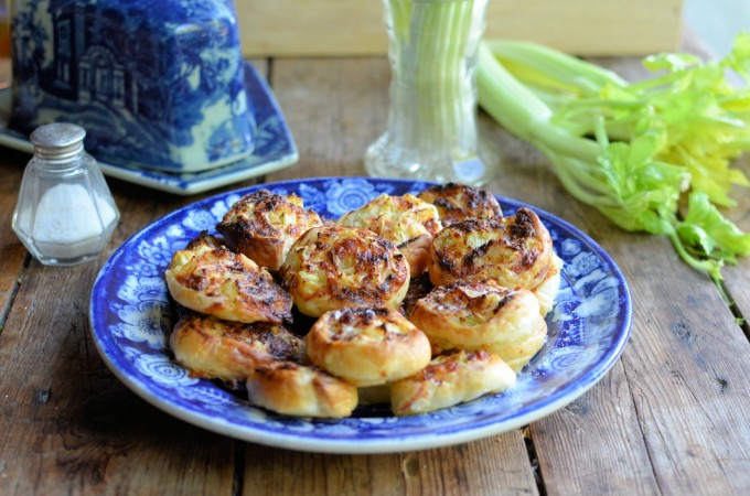 Fenland Celery and Cheese Pinwheels