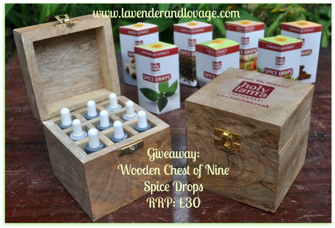 Giveaway: Spice Drops Wooden Chest of Nine Spices RRP: £30