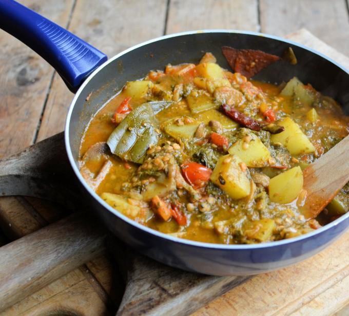 potato pea new potato curry chard and new potato curry new potato ...