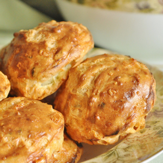 Chive-Gruyere Gougeres