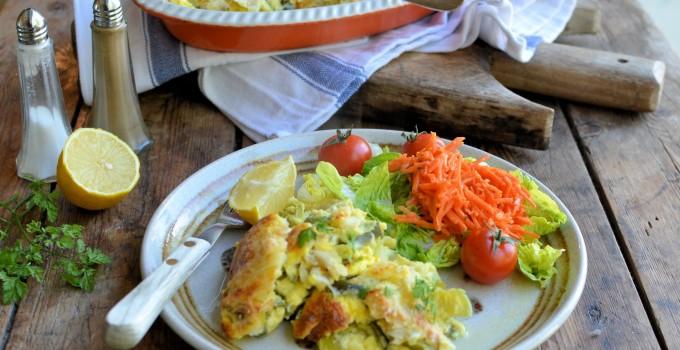 Award Winning Scottish Fish: Smoked Plaice, Leek & Cheese Gratin with Chervil & Lemon