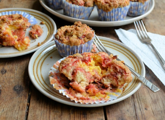 Rhubarb & Custard, Muffins, Hazelnut Crunch Crumble Topping, The Great British Rhubarb Recipe Round-Up, Roasted Rhubarb, Rhubarb and Custard Sweeties, Lavender and Lovage. Karen Burns-Booth