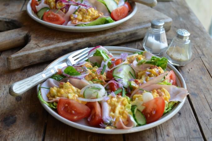 Mexican Egg Salad Lettuce Wraps