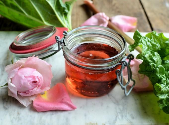 Rhubarb, Rose & Strawberry Syrup