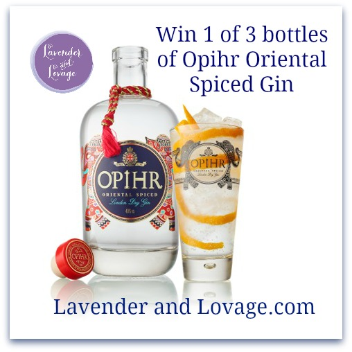 Giveaway: Win 1 of 3 bottles of Opihr Oriental Spiced Gin (RRP:£23)