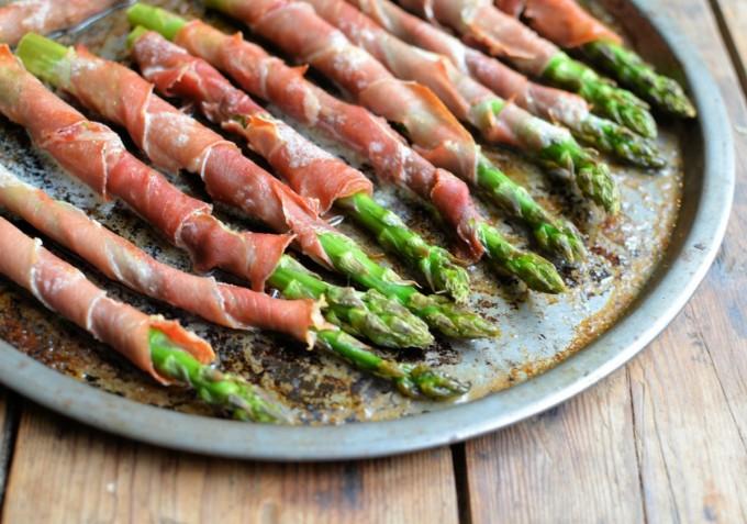 Serrano wrapped Asparagus with Baby Gem Lettuce, Bronze Fennel, Aioli ...