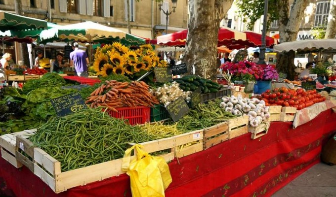 Aix Market in Provence