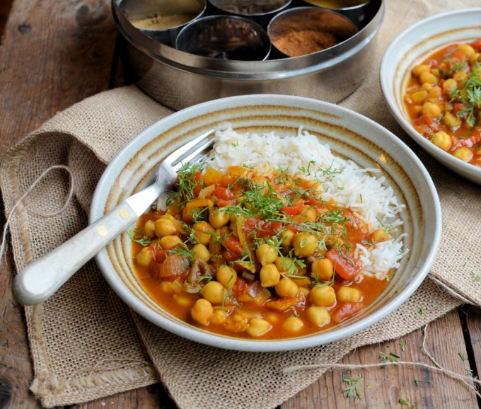 Chole Chaat (Chickpea Curry)