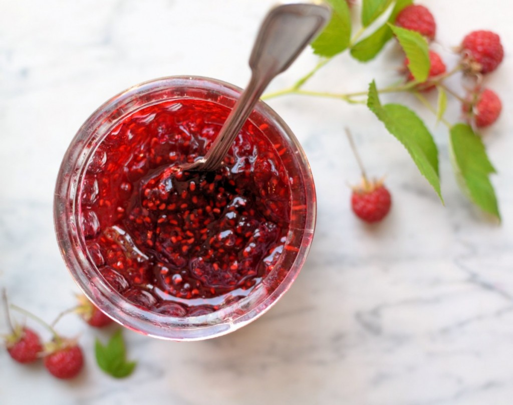 how to make raspberry jam with sugar