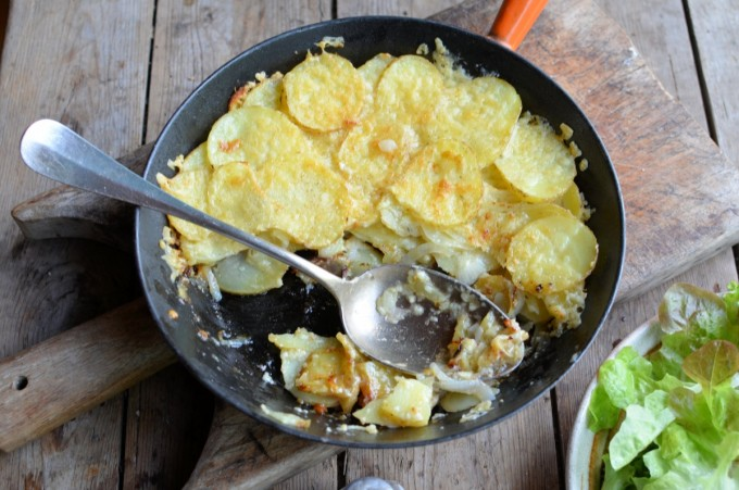 Country Cottage Comfort Food: Nanny's Pan Haggerty