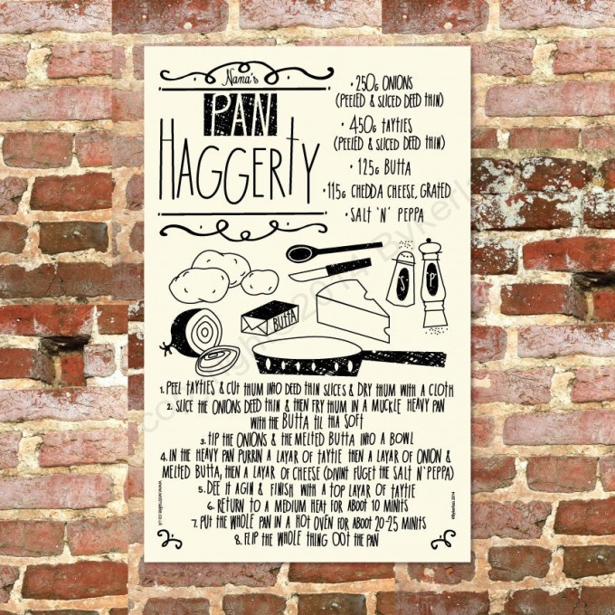 Pan Haggerty Recipe Tea Towel