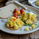 A Simple Breakfast: Scrambled Eggs on Oatcakes