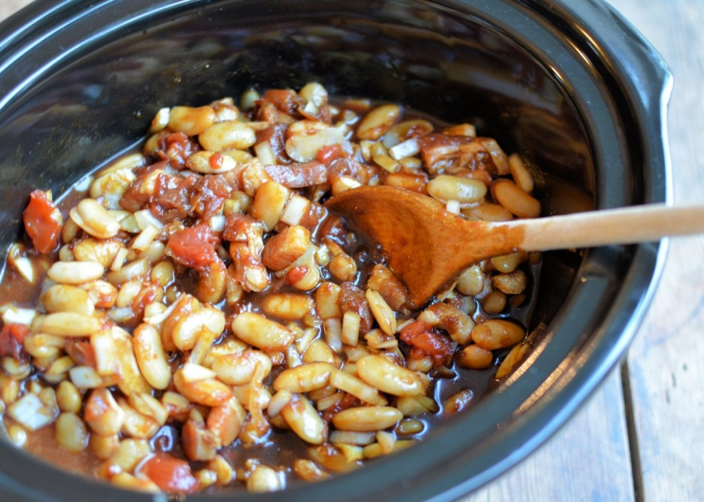 Slow Cooker Boston Baked Beans - Lavender and Lovage