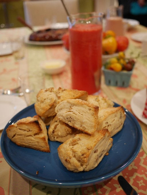Maple Walnut Scones with Watermelon Water