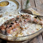Bramley Apple and Pork Tenderloin in Cream Sauce