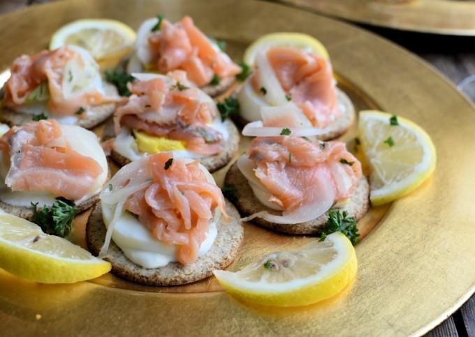 Smoked Salmon and Oatcake Canapés