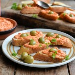 Mini Bruschetta with Peppadew Pepper Spread