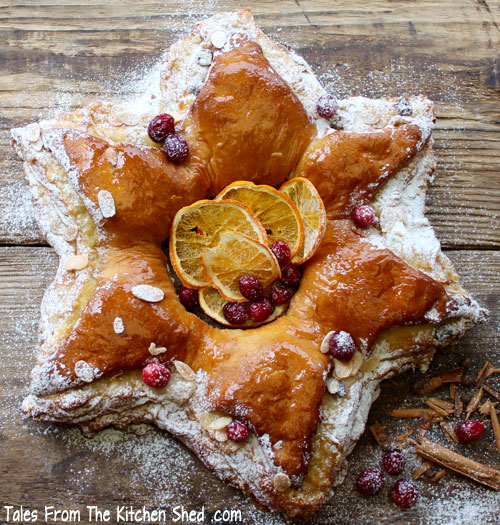Cranberry & Marzipan Star Bread by Tales from the Kitchen Shed