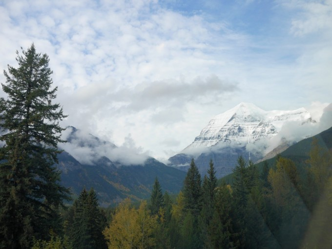 Canadian Rockies from the train