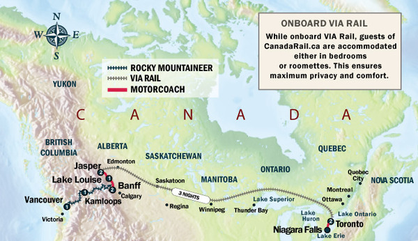 toronto to vancouver by train with the canadian lavender. Black Bedroom Furniture Sets. Home Design Ideas