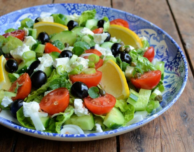 how to prepare greek salad