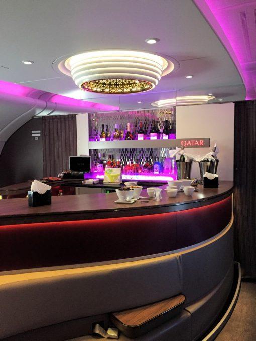 Qatar Airways Business Class Lounge Bar