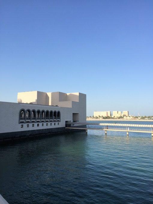 Doha Bay, MIA, QIFF and Bay Skyline at NIght, The Pearl Doha and Water Taxi