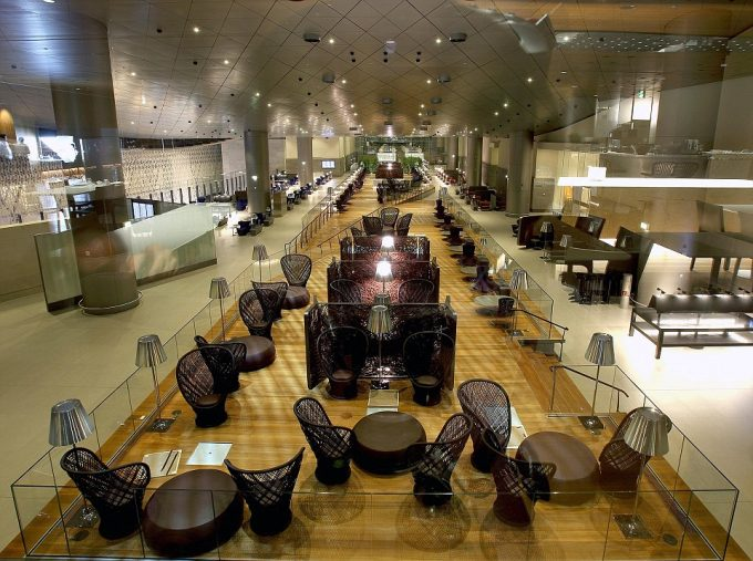 Qatar Airway's Al Mourjan Business Lounge